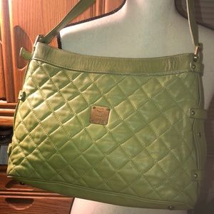 MCM quilted leather bag
